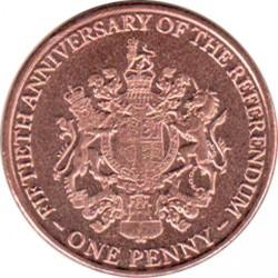 Moneta > 1penny, 2017 - Gibilterra  (50° anniversario del referendum) - reverse