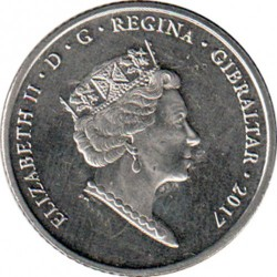 Moneta > 10pence, 2017 - Gibilterra  (50° anniversario del referendum) - obverse