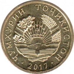 Монета > 5дирама, 2017-2019 - Таджикистан  - obverse