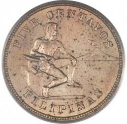Monēta > 5sentavo, 1903-1928 - Filipīnas  - reverse