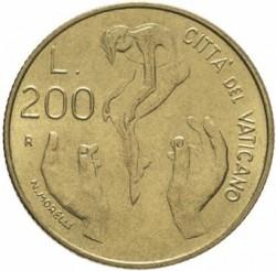 Mynt > 200lire, 1983 - Vatikanstaten  - reverse
