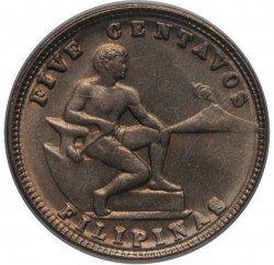 Mynt > 5centavos, 1930-1935 - Filippinene  - reverse