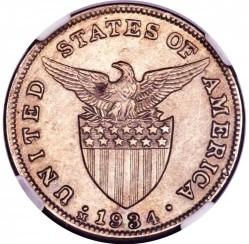 Monēta > 5sentavo, 1934 - Filipīnas  - obverse