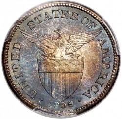 Νόμισμα > 50Σεντάβος, 1909 - Φιλιππίνες  - obverse