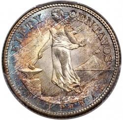 Νόμισμα > 50Σεντάβος, 1909 - Φιλιππίνες  - reverse