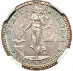 Mynt > 20centavos, 1907-1929 - Filippinene  - reverse