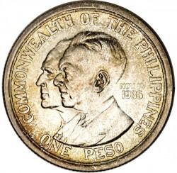 """Moneta > 1peso, 1936 - Filipiny  (Utworzenie Wspólnoty /napis """"nov 15 1935"""" po prawej stronie/) - reverse"""