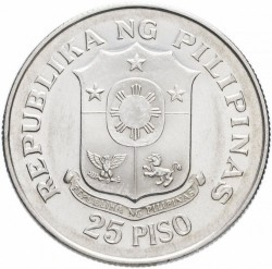 Moneta > 25 piso, 1974 - Filippine  (25th Anniversary of Cental Bank) - obverse