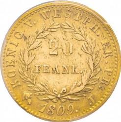 Monēta > 20franku, 1808-1809 - Westphalia  - reverse