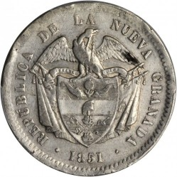 Münze > 10Reales, 1850-1851 - Kolumbien  - obverse