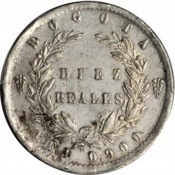 Münze > 10Reales, 1850-1851 - Kolumbien  - reverse