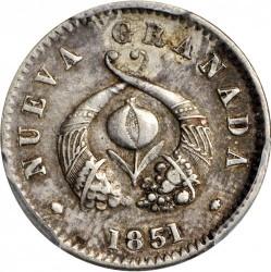 Münze > ½Real, 1850-1853 - Kolumbien  - obverse
