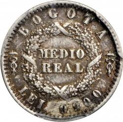 Münze > ½Real, 1850-1853 - Kolumbien  - reverse