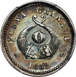 Münze > 1Real, 1852 - Kolumbien  - obverse