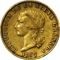 Monedă > 10peso, 1857-1858 - Columbia  - obverse