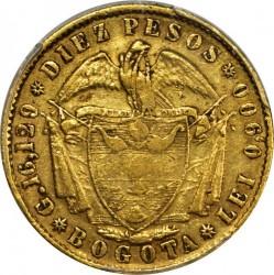 Monedă > 10peso, 1857-1858 - Columbia  - reverse