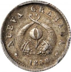 سکه > ½دسیمو, 1853-1858 - کلمبیا  - obverse