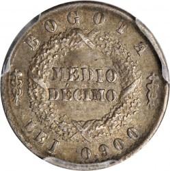 سکه > ½دسیمو, 1853-1858 - کلمبیا  - reverse