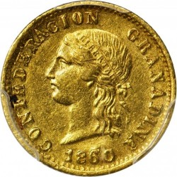 Coin > 2pesos, 1859-1860 - Colombia  - obverse