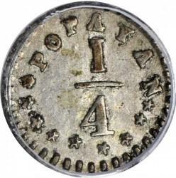 Monēta > ¼decimo, 1868-1881 - Kolumbija  - reverse
