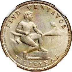 Mynt > 5centavos, 1937-1941 - Filippinerna  - reverse