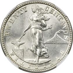 Νόμισμα > 20Σεντάβος, 1920 - Φιλιππίνες  - reverse