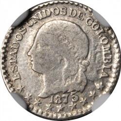Coin > ½decimo, 1868-1878 - Colombia  (LEI 0.666) - obverse