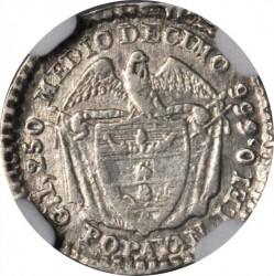 Coin > ½decimo, 1868-1878 - Colombia  (LEI 0.666) - reverse
