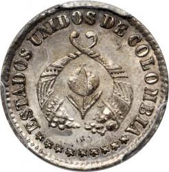 Monēta > ½decimo, 1863-1865 - Kolumbija  - obverse