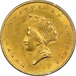 Moneta > 1dollaro, 1854-1856 - USA  (Small Indian Head) - obverse