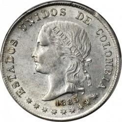 Coin > 50centavos, 1874-1885 - Colombia  - obverse