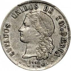Coin > 20centavos, 1875-1885 - Colombia  - obverse