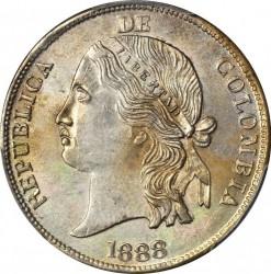 Moneda > 5décimos, 1887-1888 - Colòmbia  - obverse