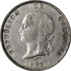 Monedă > 5decimo, 1887-1888 - Columbia  - obverse