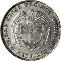 Monedă > 5decimo, 1887-1888 - Columbia  - reverse