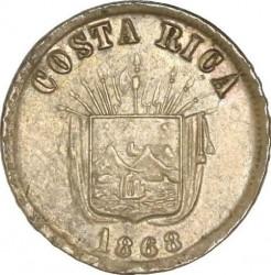 Монета > 1сентаво, 1865-1868 - Коста-Ріка  - obverse