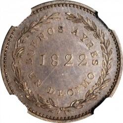 Moneda > 1/10real, 1822-1823 - Províncies Argentines  - reverse