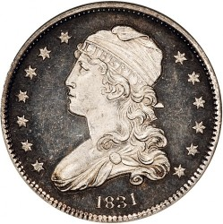 Монета > ¼долар, 1831-1838 - САЩ  (Liberty Cap Quarter) - obverse