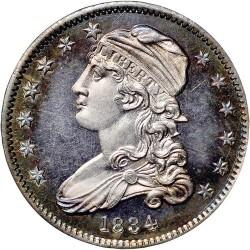 Monedă > ¼dolar, 1831-1838 - SUA  (Liberty Cap Quarter) - obverse