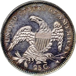 Monedă > ¼dolar, 1831-1838 - SUA  (Liberty Cap Quarter) - reverse