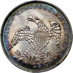 Moneta > ¼dollara, 1831-1838 - USA  (Liberty Cap Quarter) - reverse