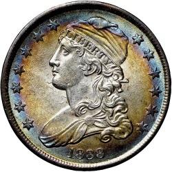 Νόμισμα > ¼Δολάριο, 1838 - Η.Π.Α  (Liberty Cap Quarter) - obverse