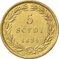 Монета > 5скудо, 1835-1846 - Папська область  - reverse