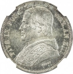 Монета > 20байокко, 1858-1865 - Папська область  - obverse