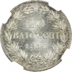 Монета > 20байокко, 1858-1865 - Папська область  - reverse