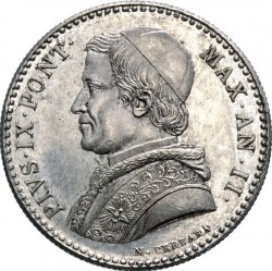 Монета > 20байокко, 1848-1856 - Папська область  - obverse