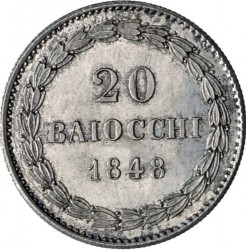 Монета > 20байокко, 1848-1856 - Папська область  - reverse