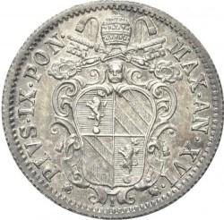 Монета > 10байокко, 1858-1864 - Папська область  - obverse