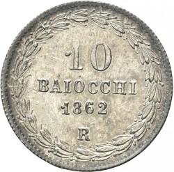 Монета > 10байокко, 1858-1864 - Папська область  - reverse
