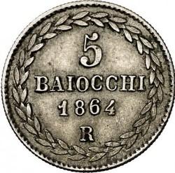 Монета > 5байокко, 1856-1864 - Папська область  - reverse
